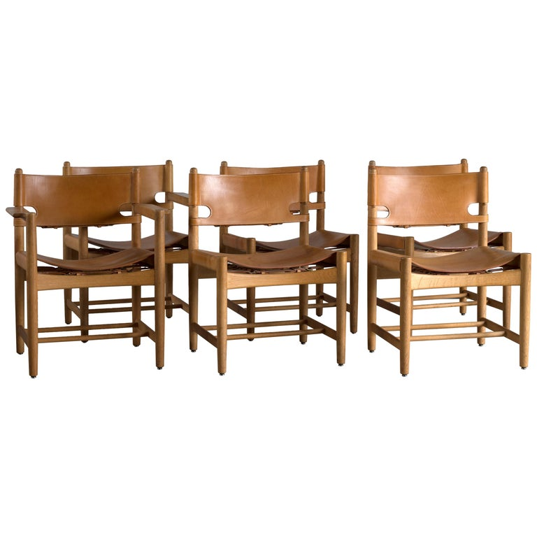 Børge Mogensen Set of Six Dinning Chairs for Fredericia Furniture For Sale