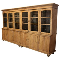 French 19th Century Oak Pharmacy Cabinet
