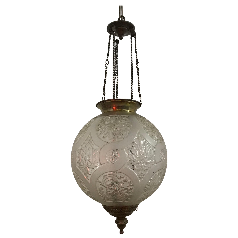 Art Nouveau Candle Lantern by Baccarat, France, circa 1890-1920