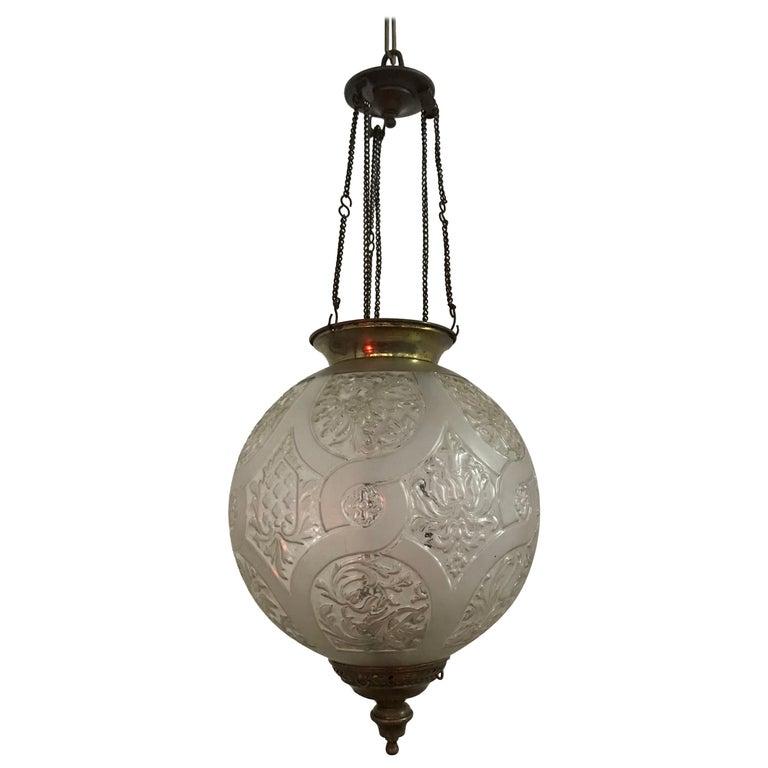 Art Nouveau Candle Lantern by Baccarat, France, circa 1890-1920 For Sale