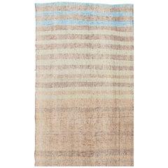 Turkish Vintage Fabric Kilim Rug