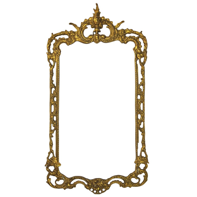 19th Century Bronze Spanish Mirror Frame Netflix Serie For Sale