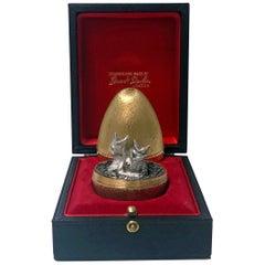 Stuart Devlin Silver Gilt Surprise Chicks Egg, London, 1973