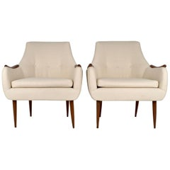 Pair of Scandinavian Modern Armchairs, circa 1950s