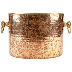 Antique STL French Copper Oval Ice Bucket