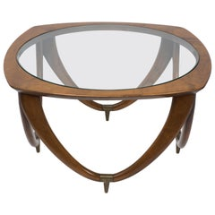 Vintage Coffee Table by Melchiorre Bega, Italian Production, circa 1950