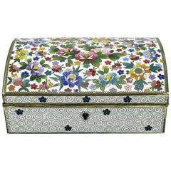 Japanese Cloisonné Jewelry Presentation Box Japan Racing Association