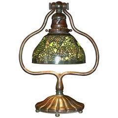 Tiffany Studios Bronze Grapevine Glass Lamp