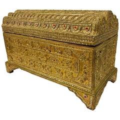 Giltwood Jeweled Box