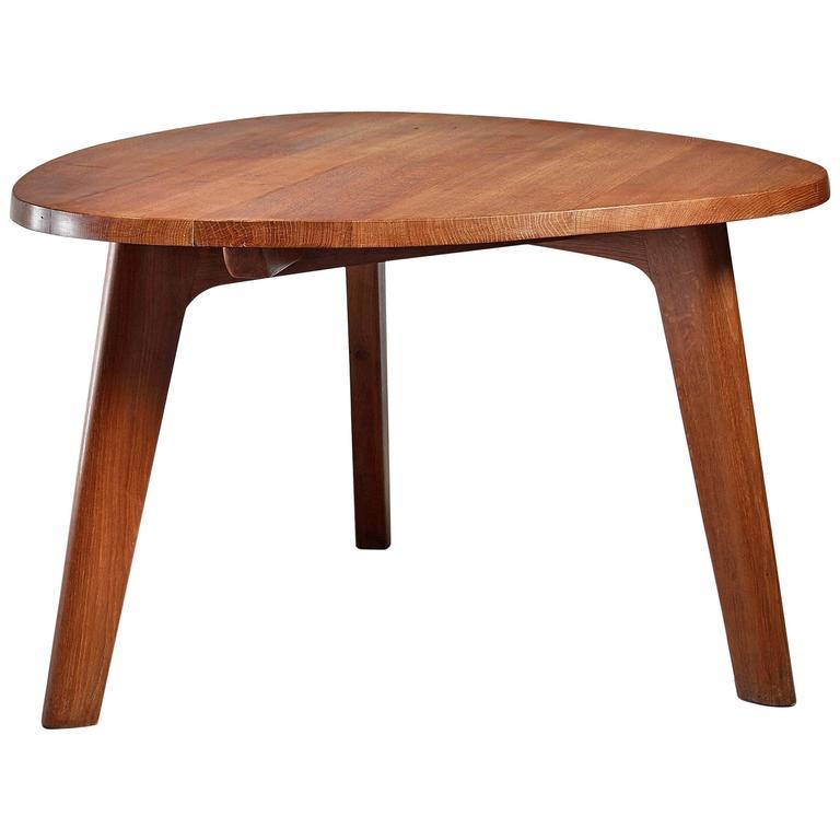 Triangular Oak Dining or Breakfast Table France 1960s  : 1334094l from www.1stdibs.com size 768 x 768 jpeg 30kB