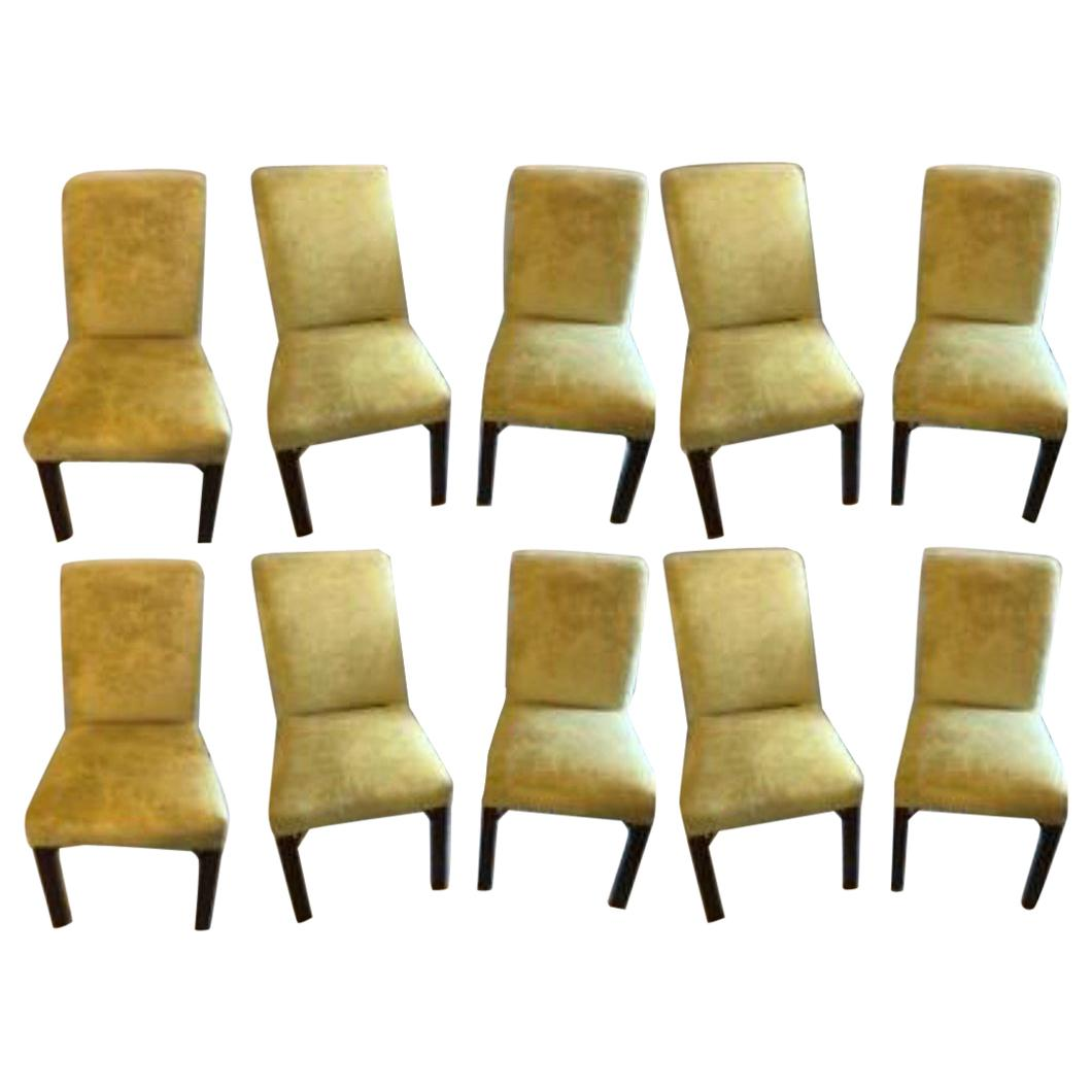 Set of 10 Schneller & Sons Chinese Chippendale Sleigh Back Dining Chairs