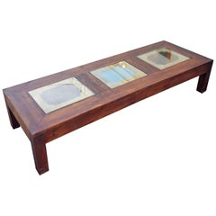 Extra Long Moroccan Rectangular Wooden Coffee Table