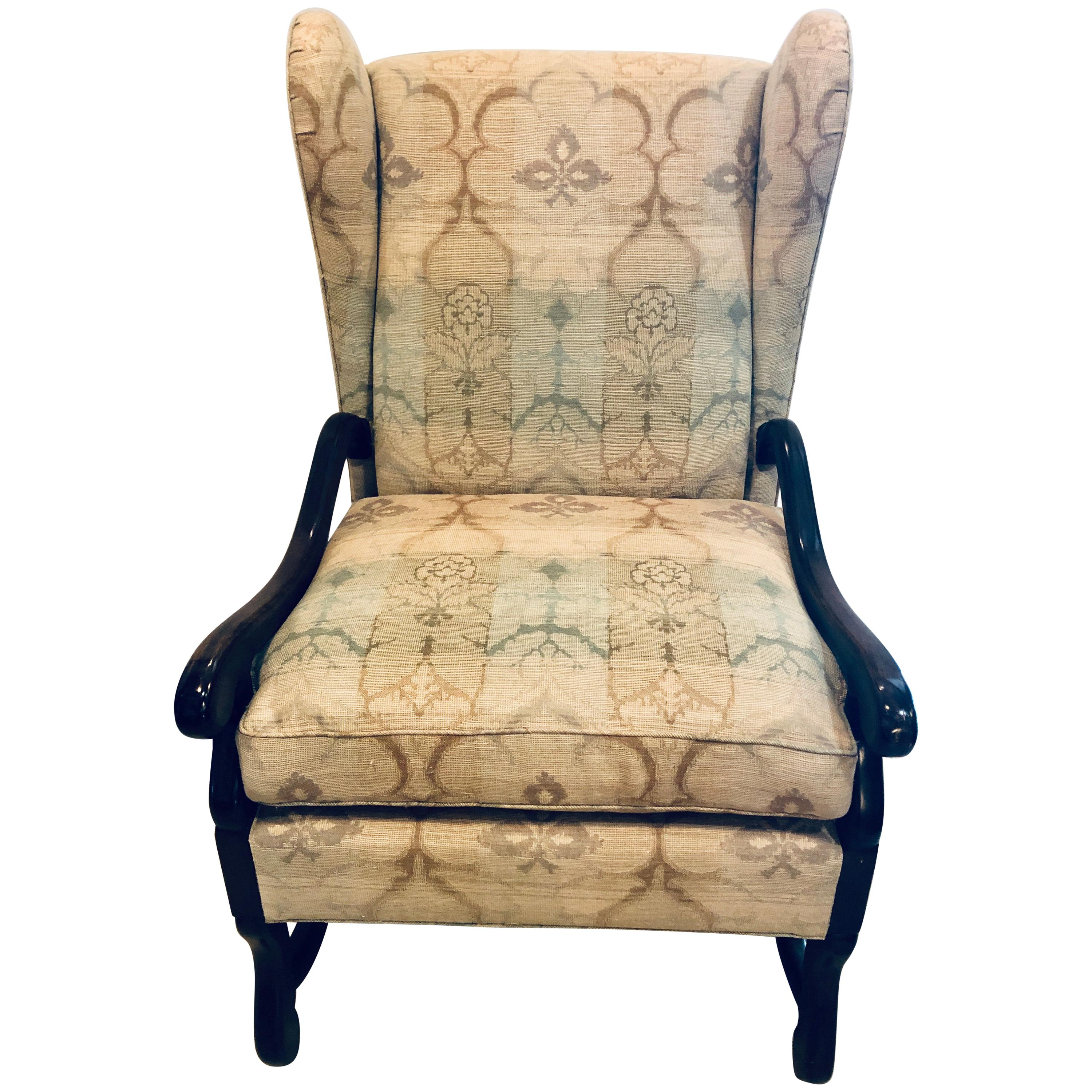 A. Schneller Sons Colonial Wingback Armchair