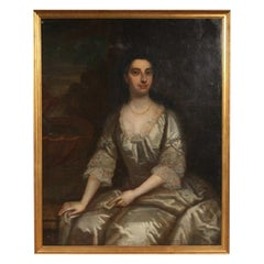 Antique Portrait of Lady, Oil on Canvas