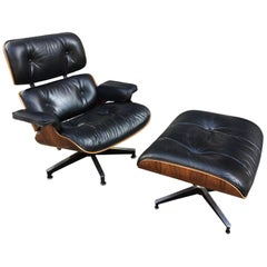 Charles Eames for Herman Miller Rosewood 670/71 Lounge Chair and Ottoman