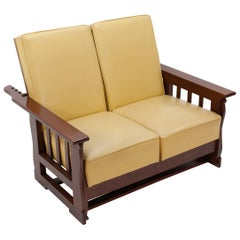 A  Morris chair for two  double Sofa recliner