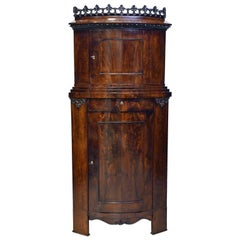 Empire Corner Cabinet or Cupboard in West Indies Mahogany, circa 1800
