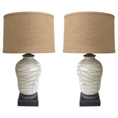 Mid-Century Modern Italian Ceramic Table Lamps by Raymor
