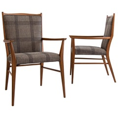 Pair of Paul McCobb Upholstered Armchairs
