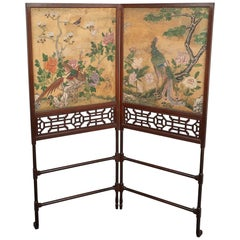 George III Folding Firescreen in the Chinese Chippendale Taste