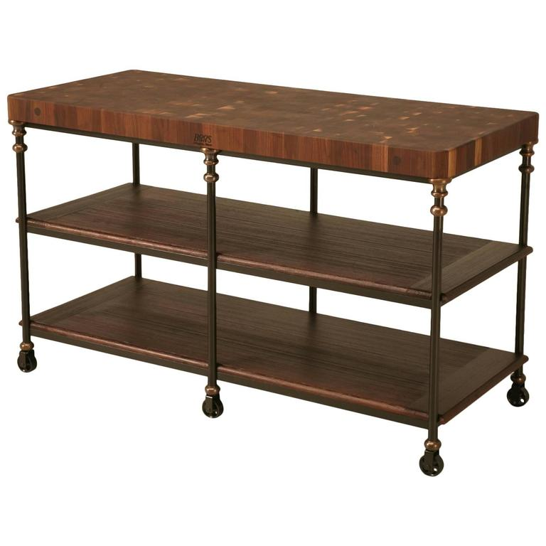 kitchen work table island industrial inspired kitchen island in steel bronze 6575