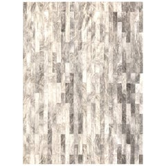Light Brindle Patchwork Cowhide Rug