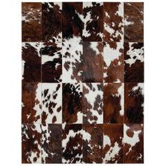 Santino Cowhide Patchwork Rug in Tri-Color by Grand Splendid