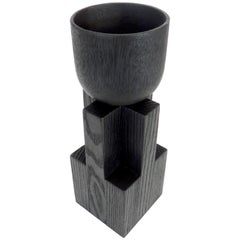 Arno DeClercq Blackened Belgian Oak Wood Goblet Bowl