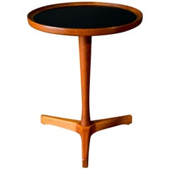 Hans Andersen Teak Tripod Side Table, circa 1965