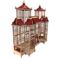 19th Century Nap III Dove Cage Chinoiserie, Birdcage