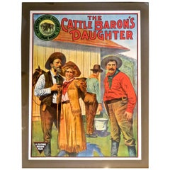 "Movie Poster ""The Cattle Baron's Daughter"", circa 1910"