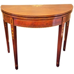 Federal Mahogany Inlaid Hepplewhite Card Table, 1795-1800, Baltimore