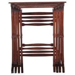 Set of Four Mahogany Nesting Tables