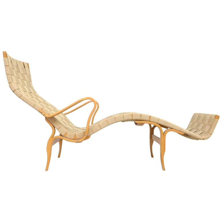 """Pernilla 3"" Lounge Chair by Bruno Mathsson for DUX For Sale"