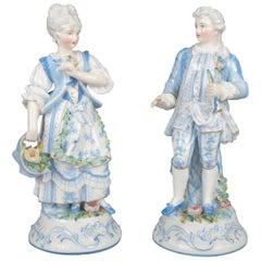 German Porzellanfabrik Unger Schneider CIE Courting Couple Figures, circa 1859
