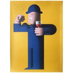Original Vintage French Wine Poster 'D&AD 21st Royal Albert Hall'