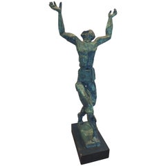 1960s Bronze Brutalist Abstract Figurative Sculpture
