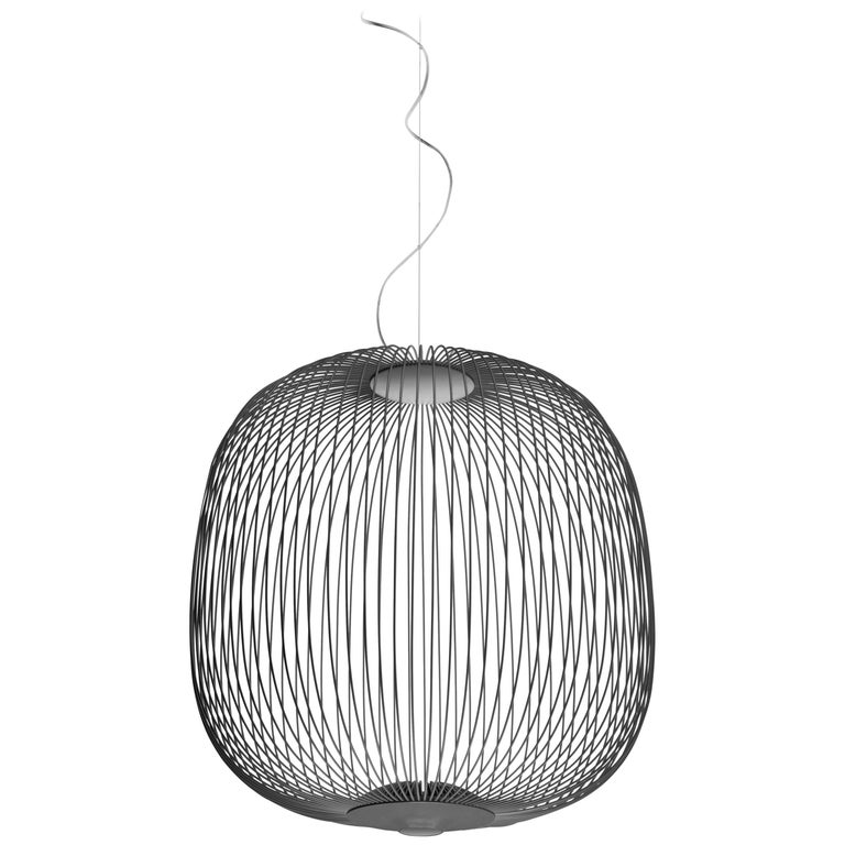 Foscarini Spokes 2 Suspension Lamp in Graphite by Garcia and Cumini For Sale