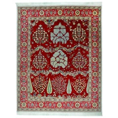Rug Mogul Wool Hand Knotted Red and Green
