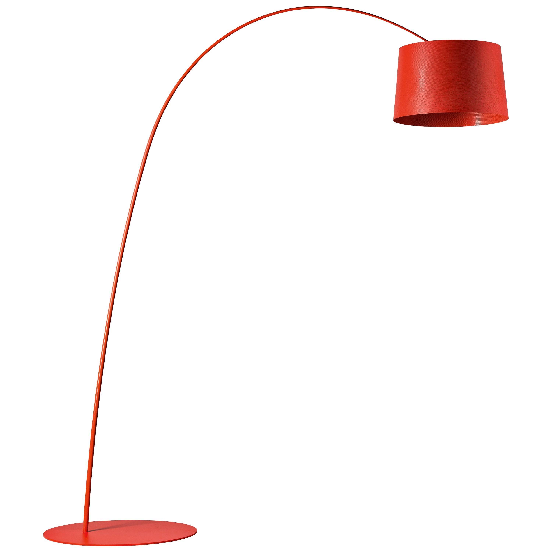 Foscarini Twiggy Floor Lamp in Crimson by Marc Sadler