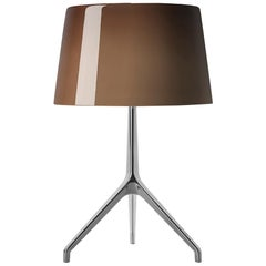 Foscarini Lumiere Extra Large Table Lamp in Brown & Aluminum by Rodolfo Dordoni