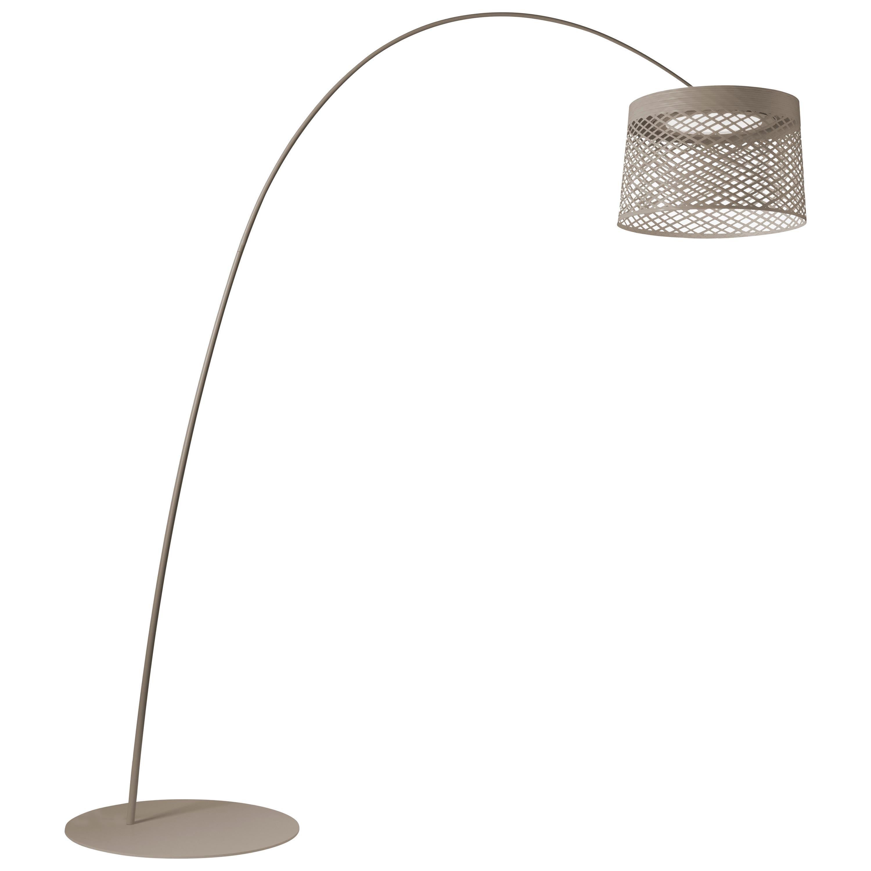 Foscarini Twiggy Grid Outdoor Floor Lamp in Greige by Marc Sadler