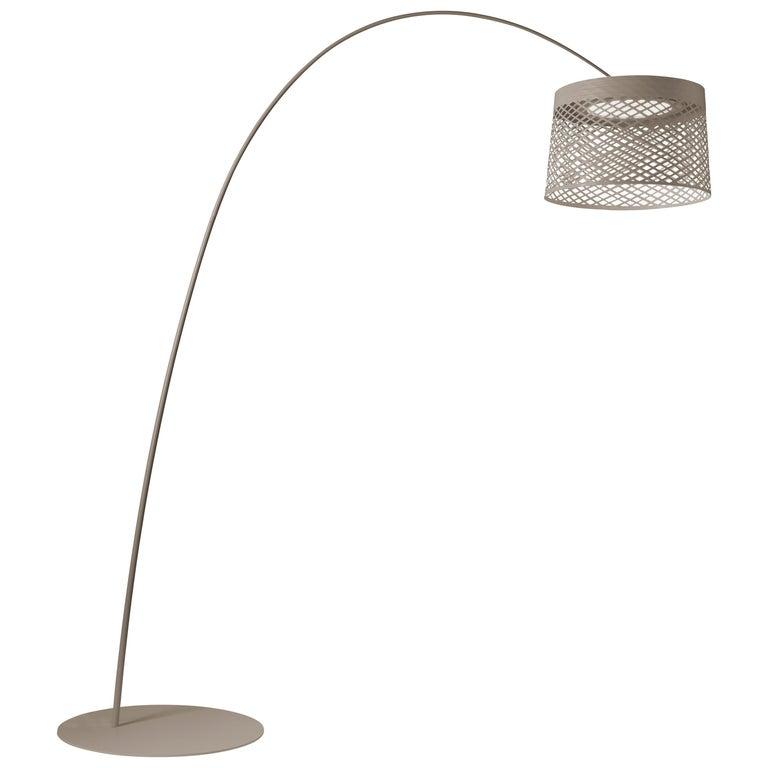 Foscarini Twiggy Grid Outdoor Floor Lamp in Greige by Marc Sadler For Sale