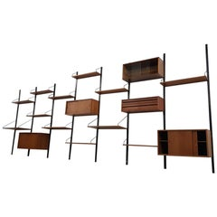 Large Poul Cadovius for Royal System Wall System or Shelving Unit, Danish 1948