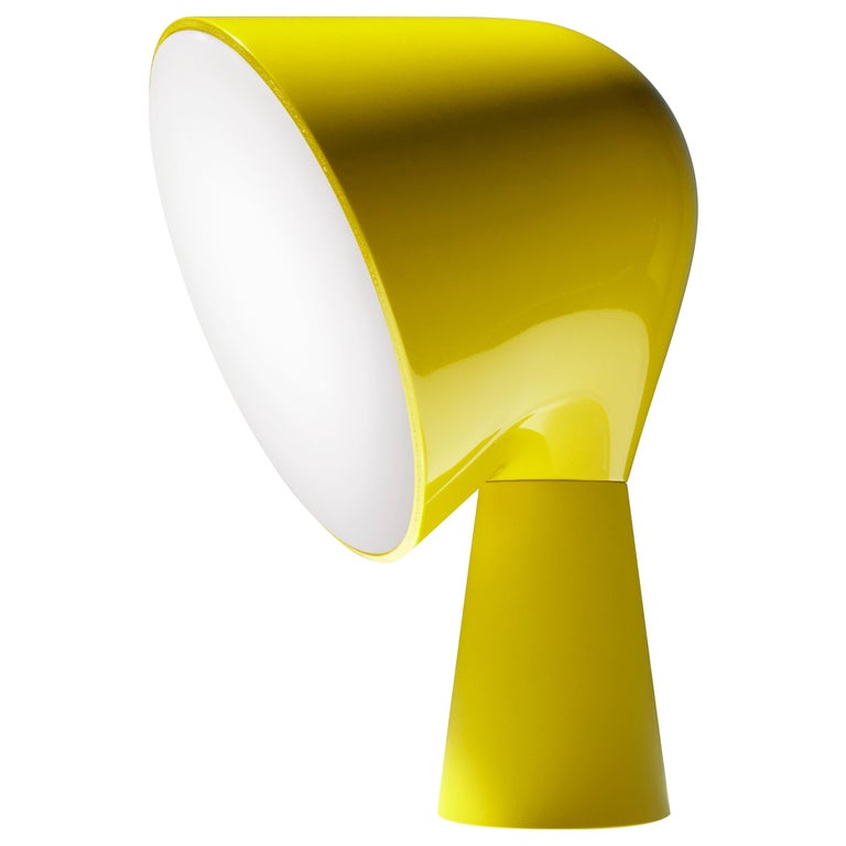 Foscarini Binic Table Lamp in Yellow by Lonna Vautrin For Sale