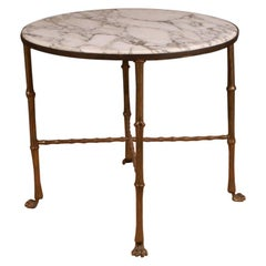 1920s Brass Lamp Table