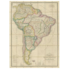 Antique Map of South America by Wyld, circa 1850