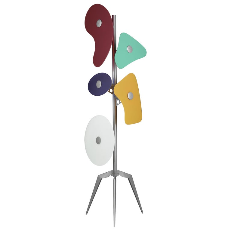 Foscarini Orbital Floor Lamp in Multicolors by Ferruccio Laviani For Sale