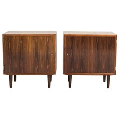 Midcentury Pair of Danish Cabinets in Rosewood by Hundevad, 1960s