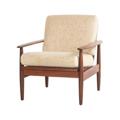 Midcentury Danish Easy Chair in Teak and Fabric, 1960s